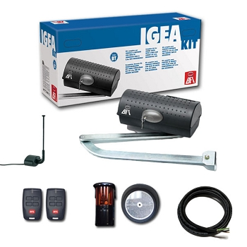 BFT Igea BT Swing Gate Operator Kit 24V Handles Gates 550lbs 10 feet long Kit